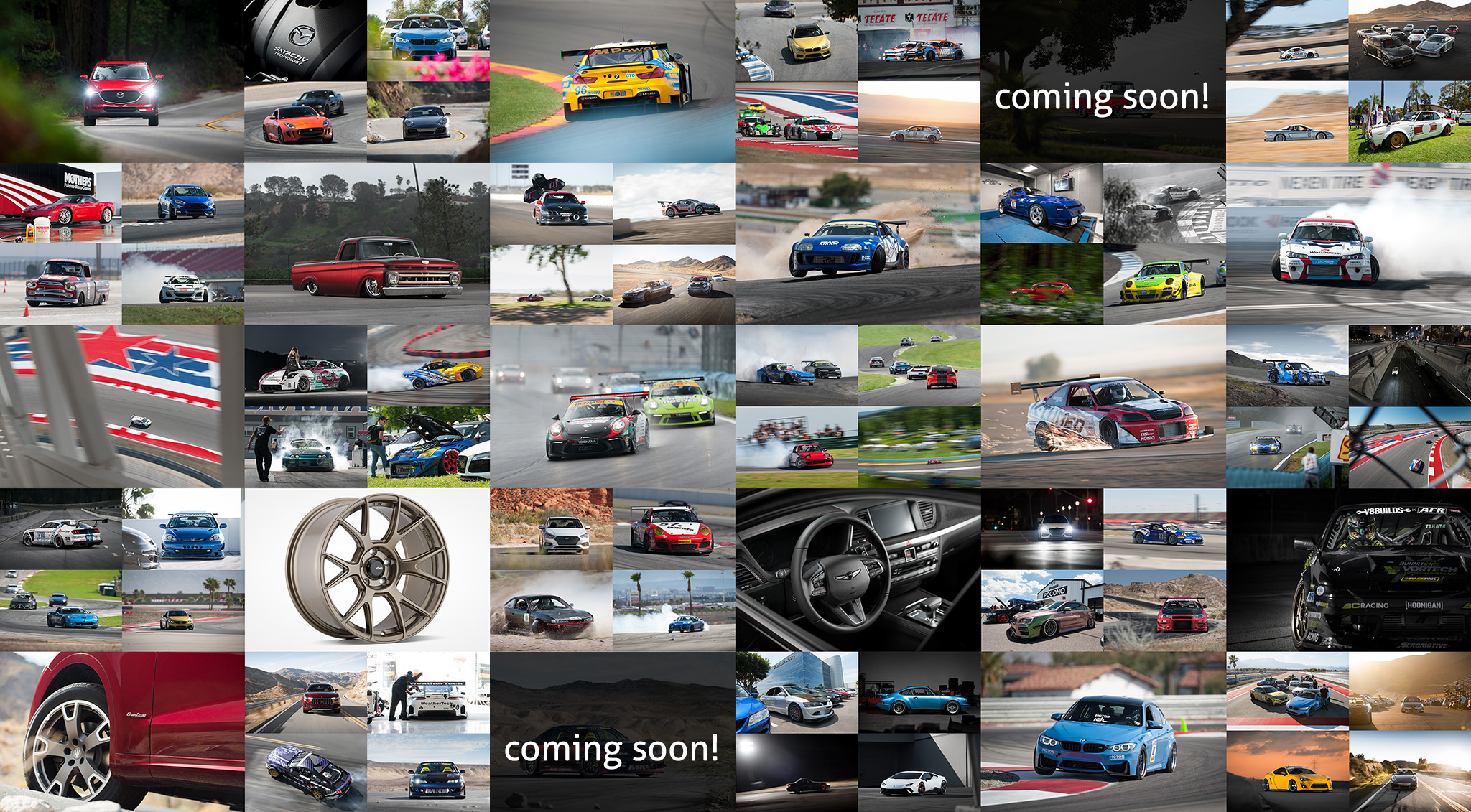 Luke Munnell automotive photography, motorsports photography 2017 Year in Review collage of favorite shoots of the year