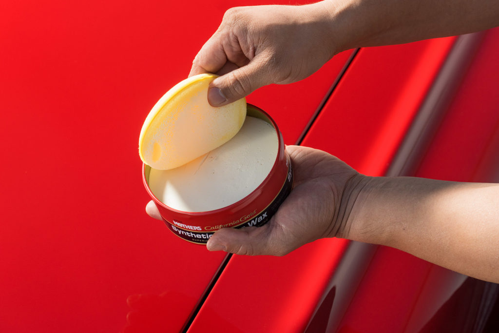 automotive photography Mother's Detail Guide how to wax polish car applicator