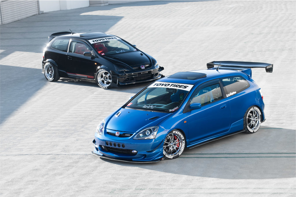 EP3 Honda Civic blue black dual feature Super Street magazine