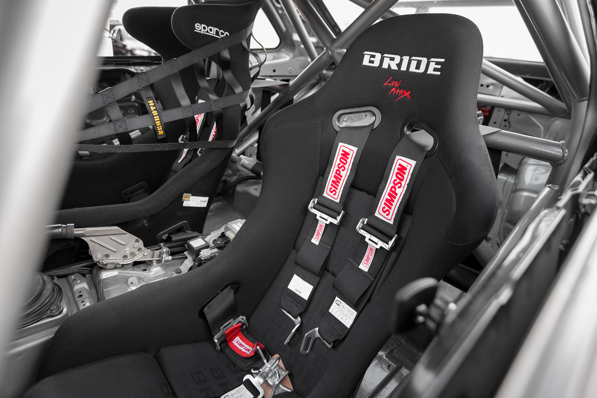R34 Nissan Skyline GT R Race Car Interior Bride Seats Harnesses Roll Cage By Kyle