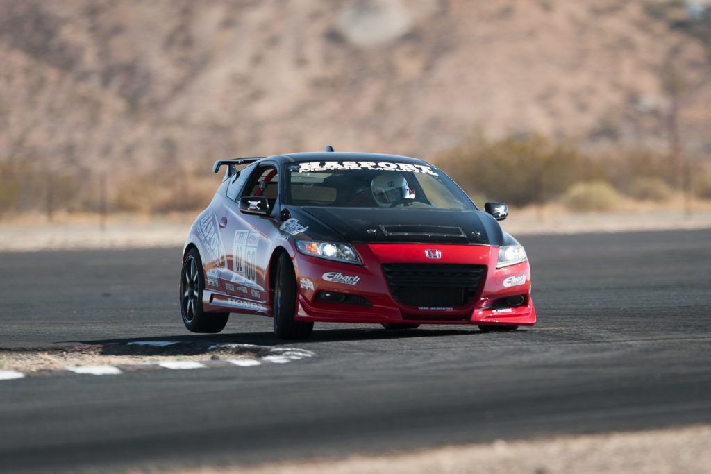 Hasport Honda CR-Z time-attack race car at Super Street FF Battle at Streets of Willow Springs track motorsports photography