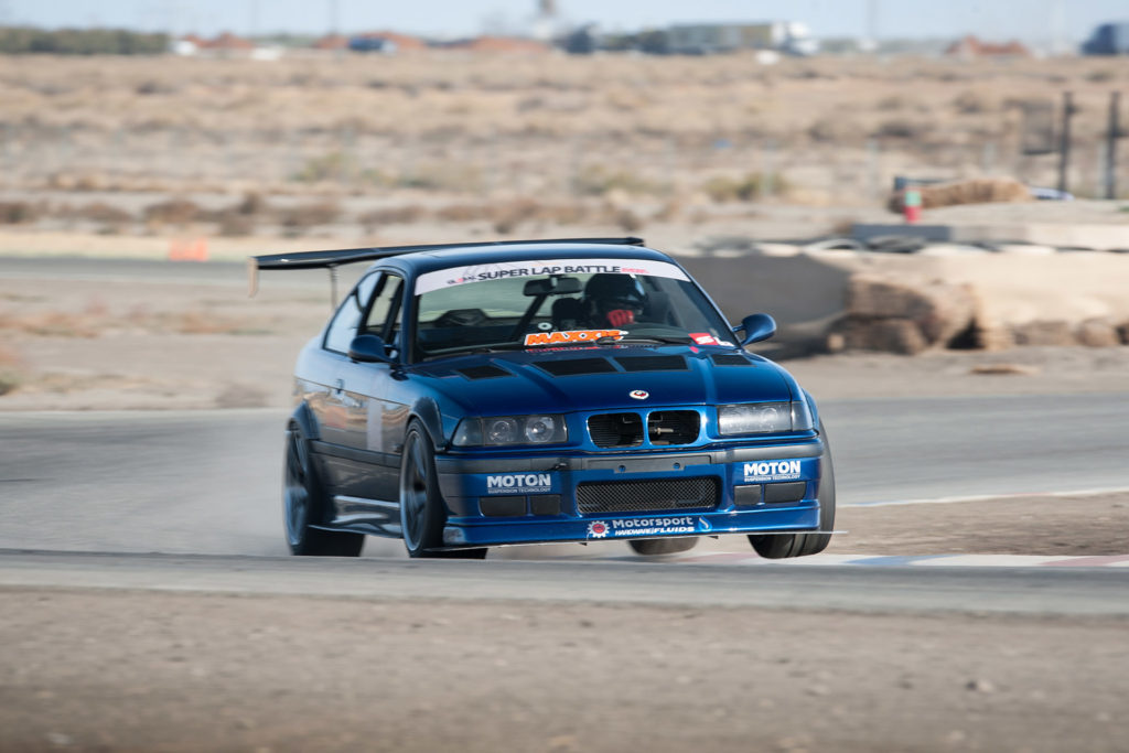 Super Street magazine Odd Swaps Challenge LS V8 swapped E36 BMW M3 race car at Buttonwillow Raceway