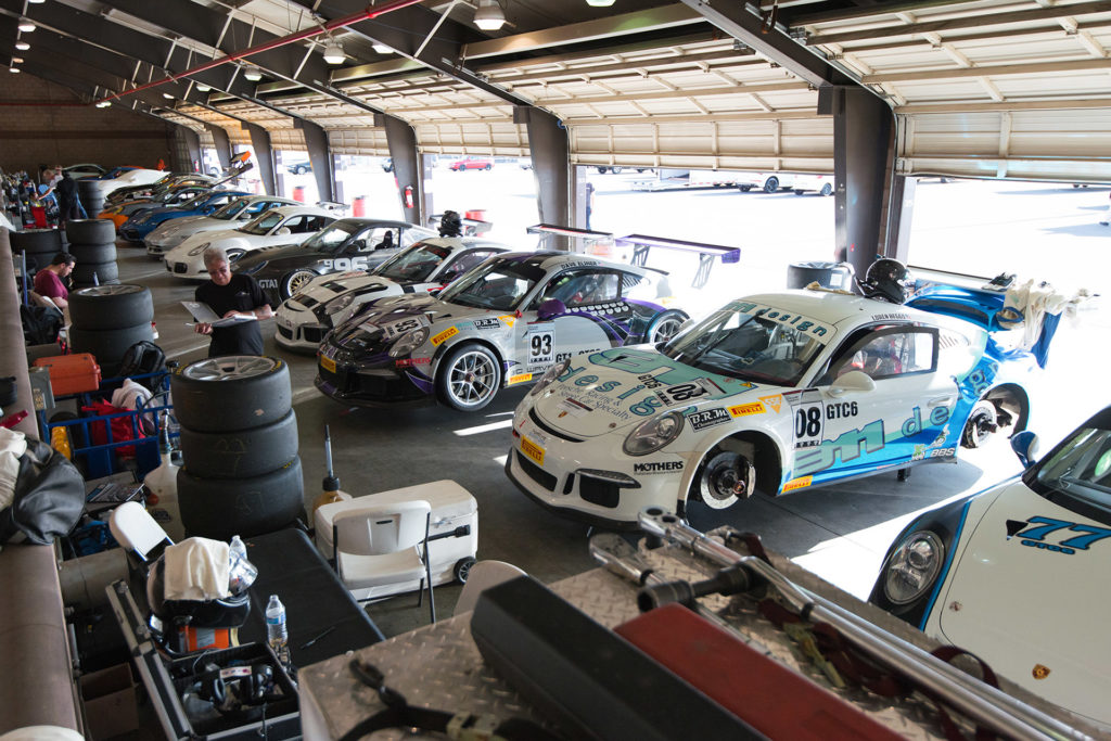 California Festival of Speed Porsche garage Auto Club Speedway Fontana