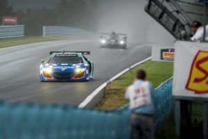 IMSA Watkins Glen Michael Shank 86 Acura NSX racing in the rain motorsports photography