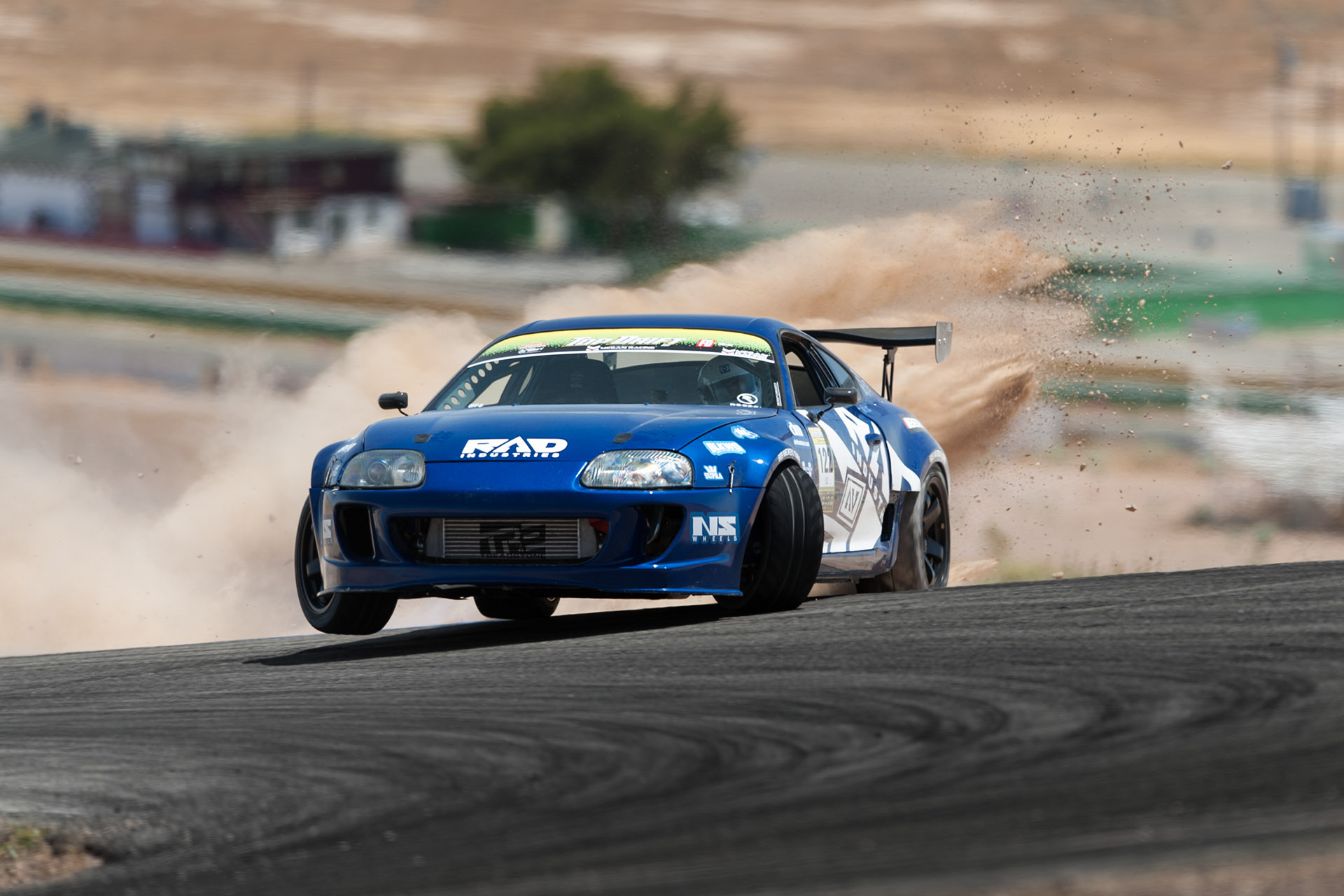Jeff Le Rad Industries Blue JZA80 Toyota Supra drift dirt rocks