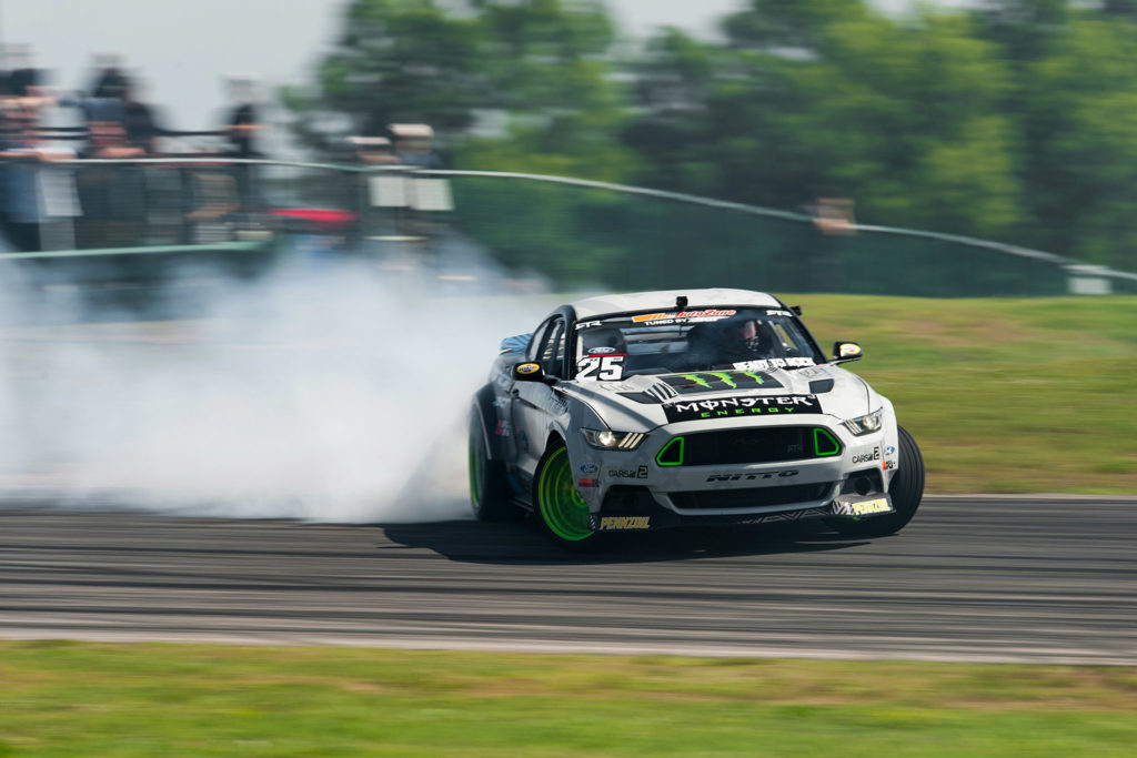 Vaughn Gittin Jr Monster Energy Ford Mustang Street Driven Tour VIR drift
