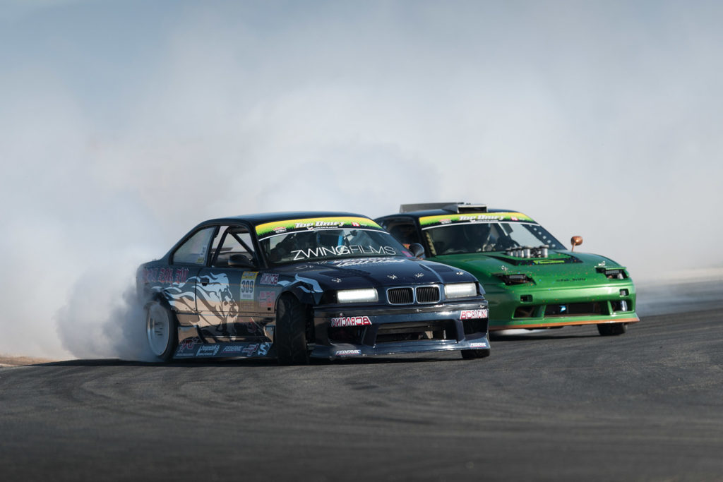 E36 BMW M3 and S13 Nissan 240SX Top Drift tandem drift