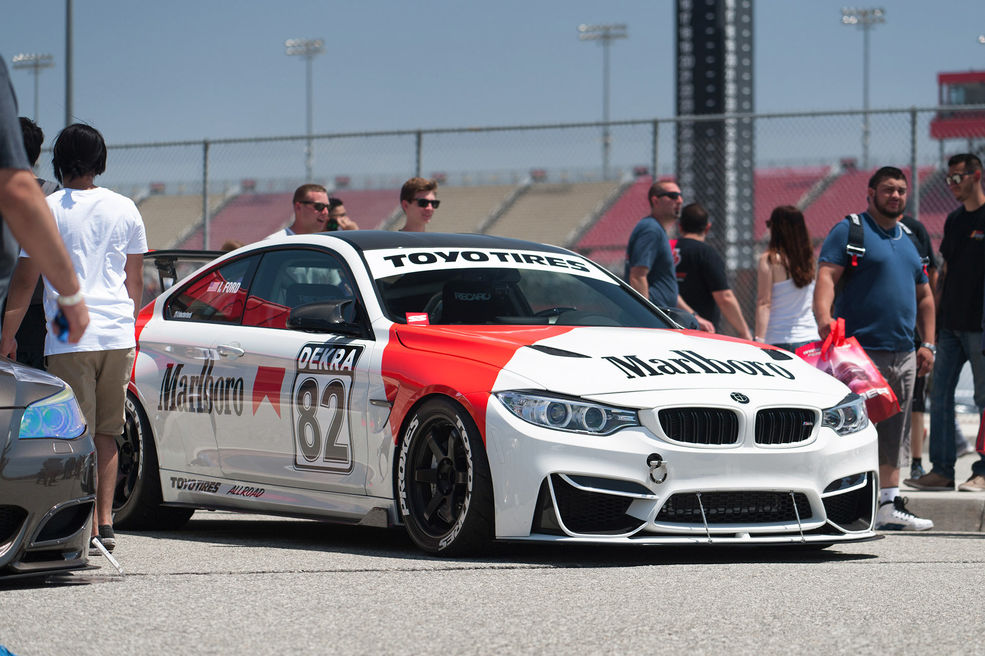 BMW M6 with Marlboro livery at Bimmerfest Auto Club Raceway Fontana CA