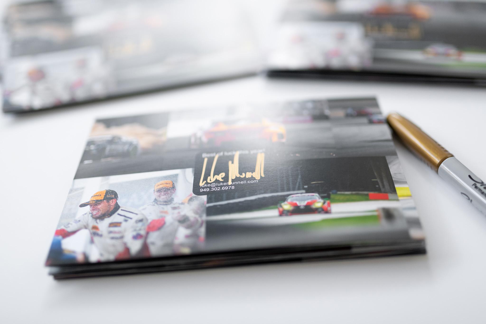Luke Munnell Motorsports Photography 2020 promotional brochure