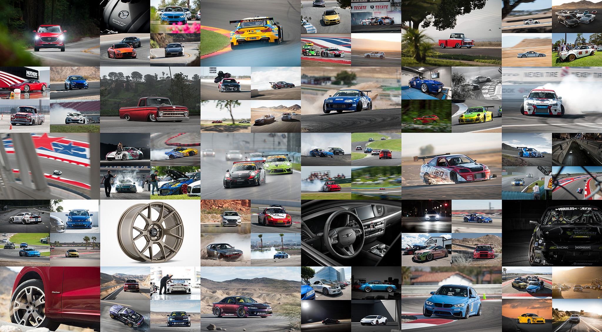 Luke Munnell automotive motorsports photography year in review collage