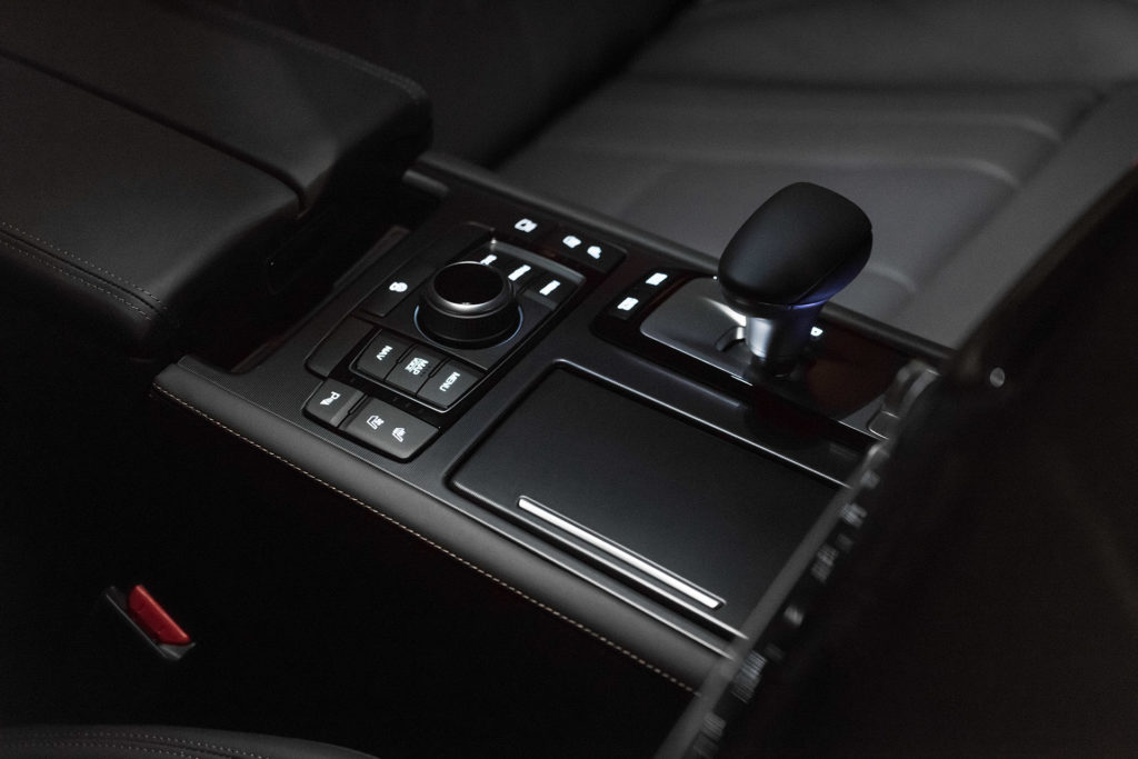 Genesis G80 interior center console shifter controls automotive photography