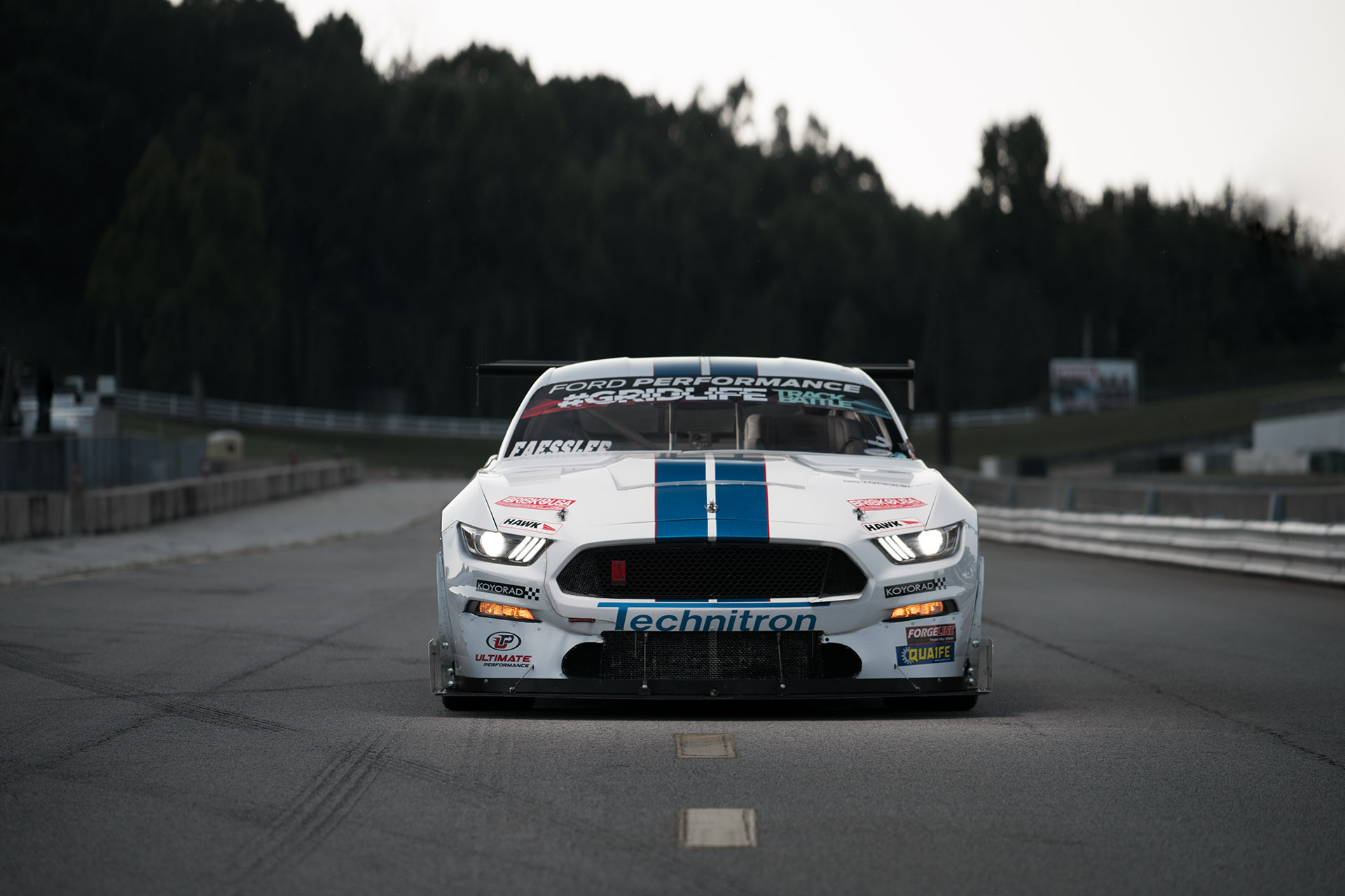 2015 Ford Mustang GT body Paul's Automotive Engineering time trial and time attack race car