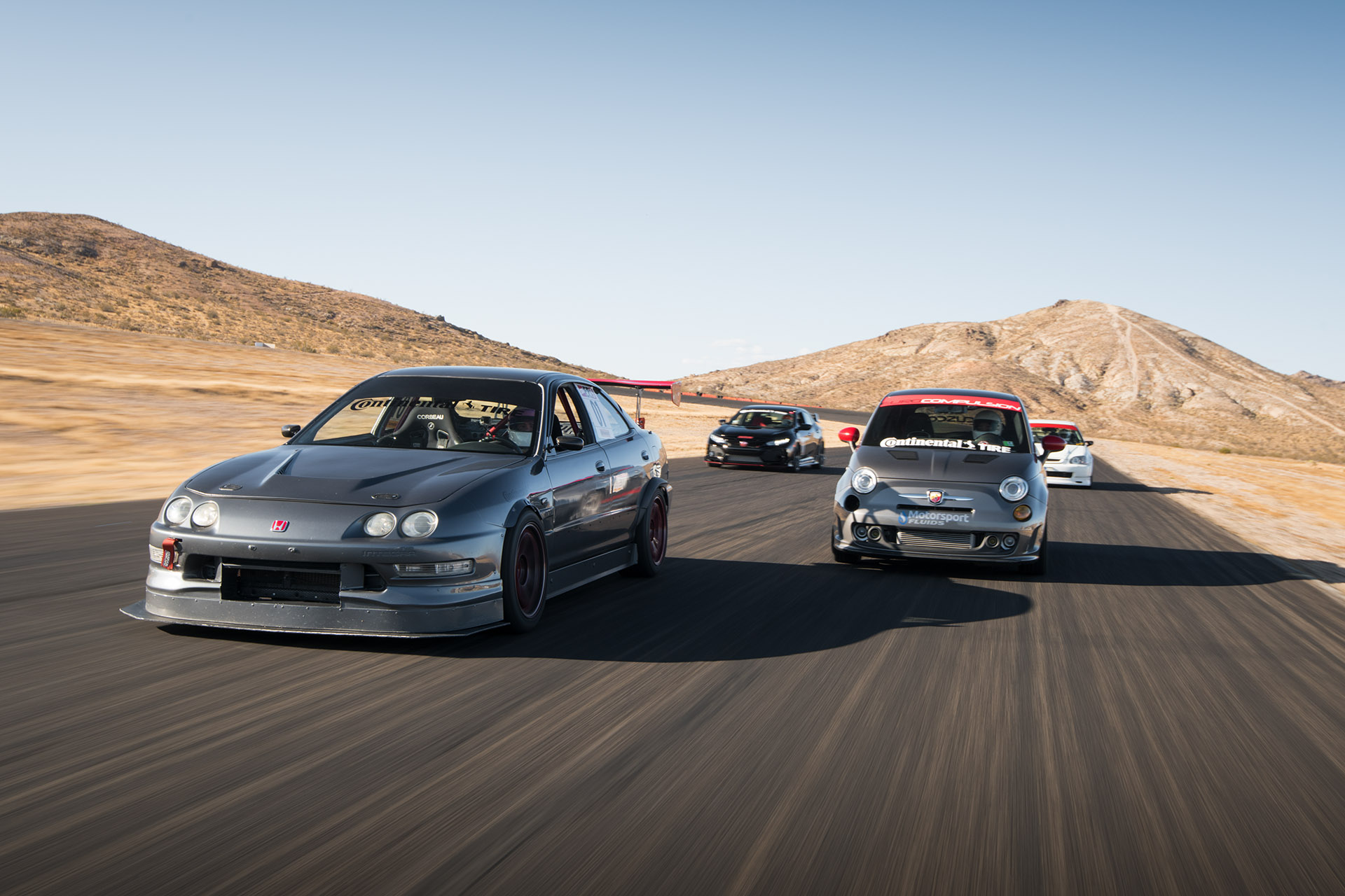 Luke Munnell motorsports photography FF Battle group track shot at Willow Springs for Super Street magazine