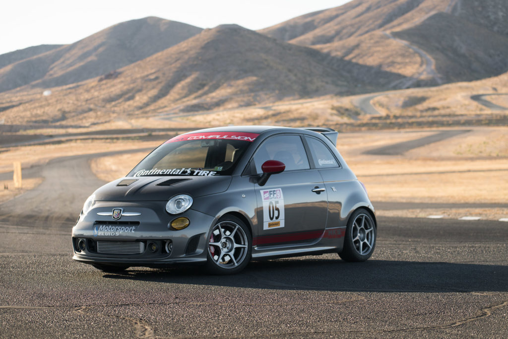 Fiat 500 Abarth time-attack race car at Super Street magazine FF Battle motorsports photography