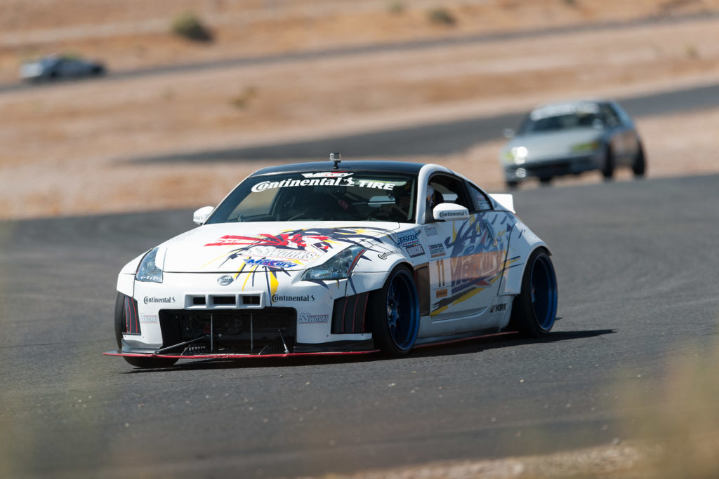 Nissan 350Z Mercury Auto time-attack race car at Super Street magazine Show Car Shootout motorsports photography