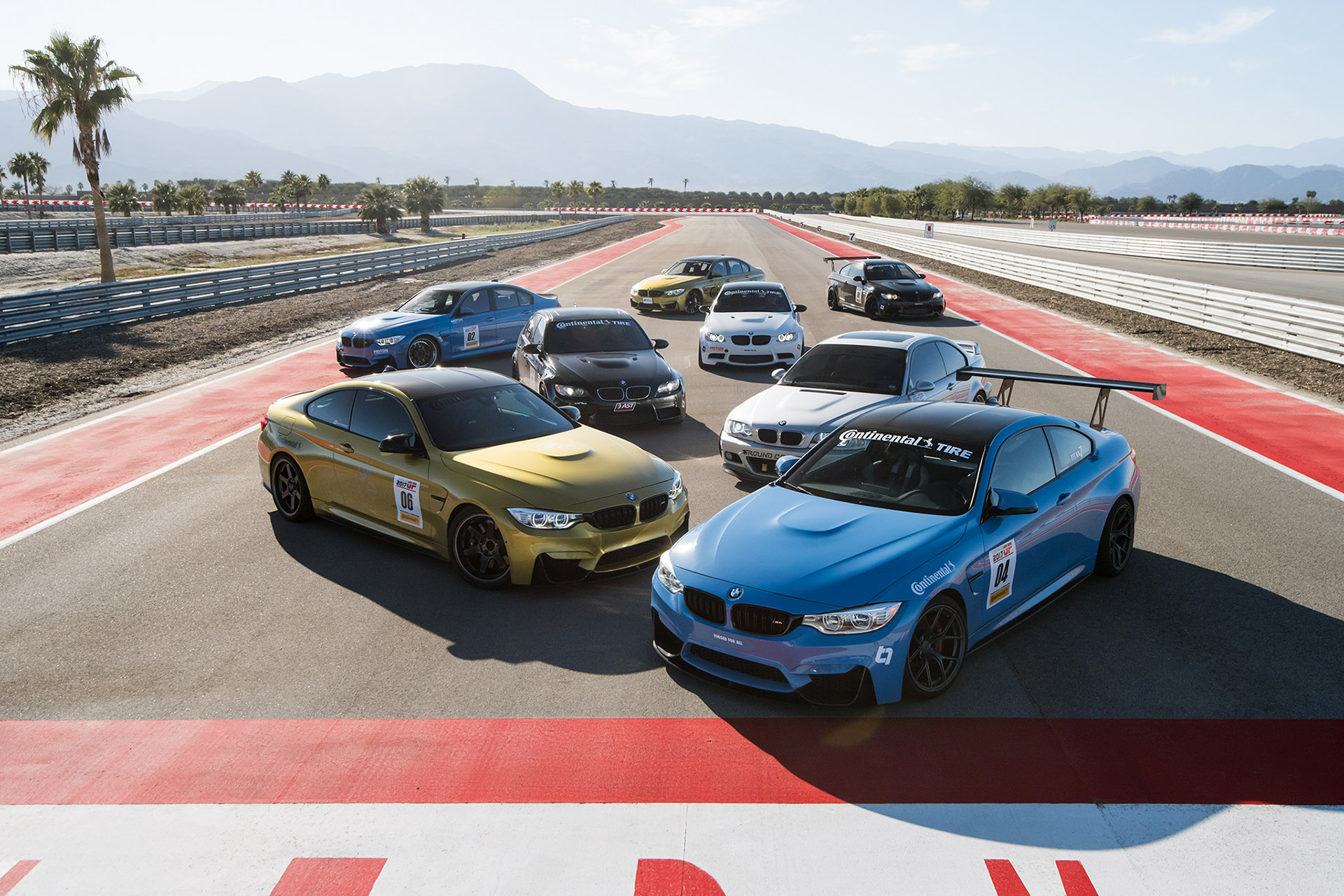 Luke Munnell motorsports photography European Car magazine Tuner GP BMW group shot at Thermal Club raceway