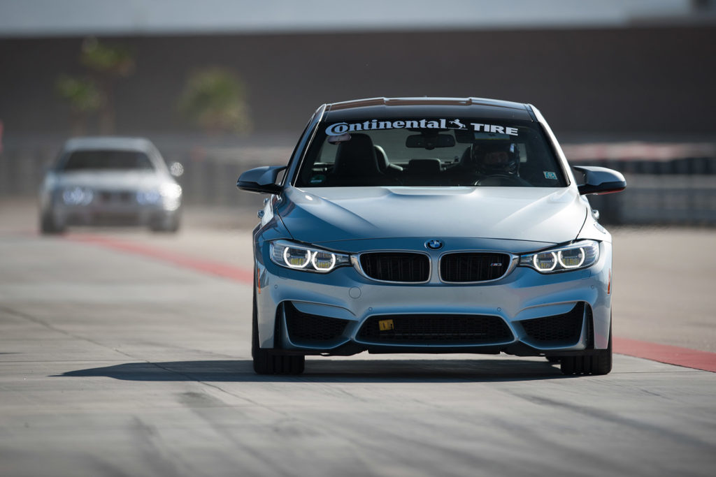 blue F80 BMW M3 racing in European Car magazine Tuner GP at Thermal Club automotive photography