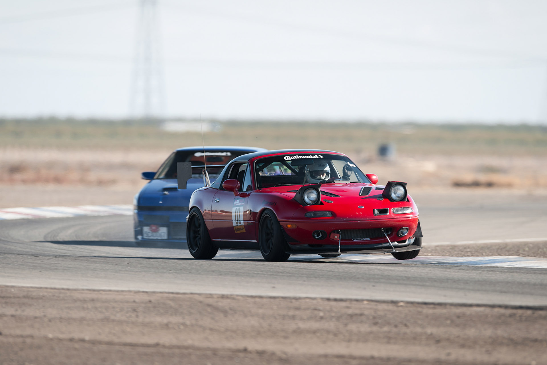Luke Munnell motorsports photography J30 V6 swapped NA6 Mazda Miata racing in Super Street magazine Odd Swaps Challenge at Buttonwillow Raceway
