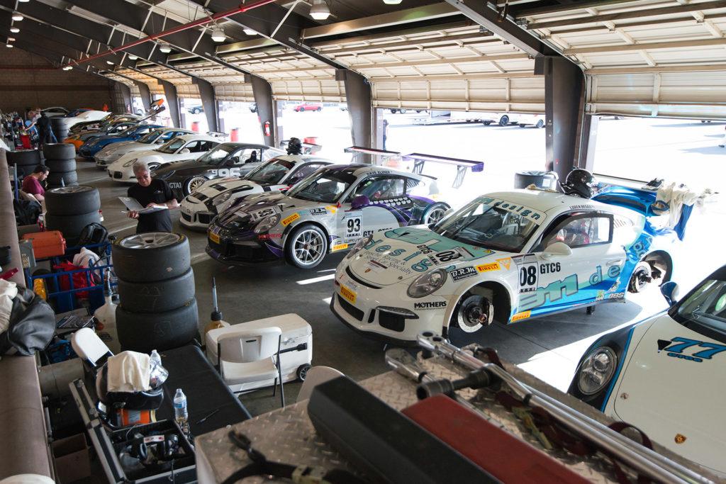 California Festival of Speed Porsche garage Auto Club Speedway Fontana