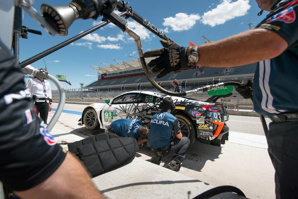 IMSA COTA Michael Shank Racing Acura NSX pit stop motorsports photography