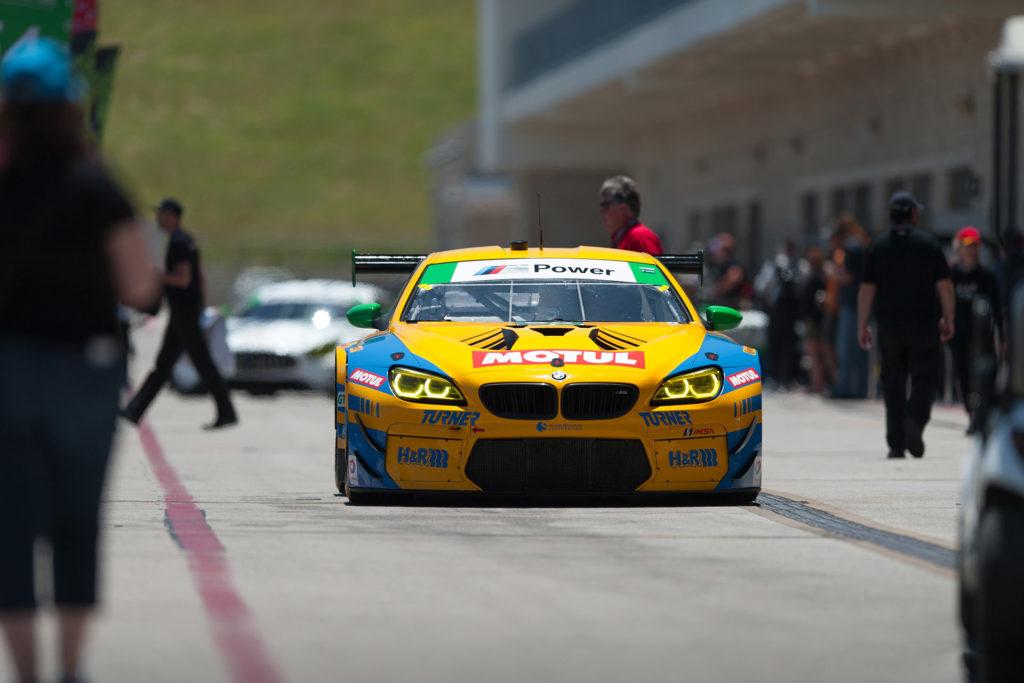IMSA COTA Turner Motorsports BMW M6 GT3 rolling down pit lane motorsports photography