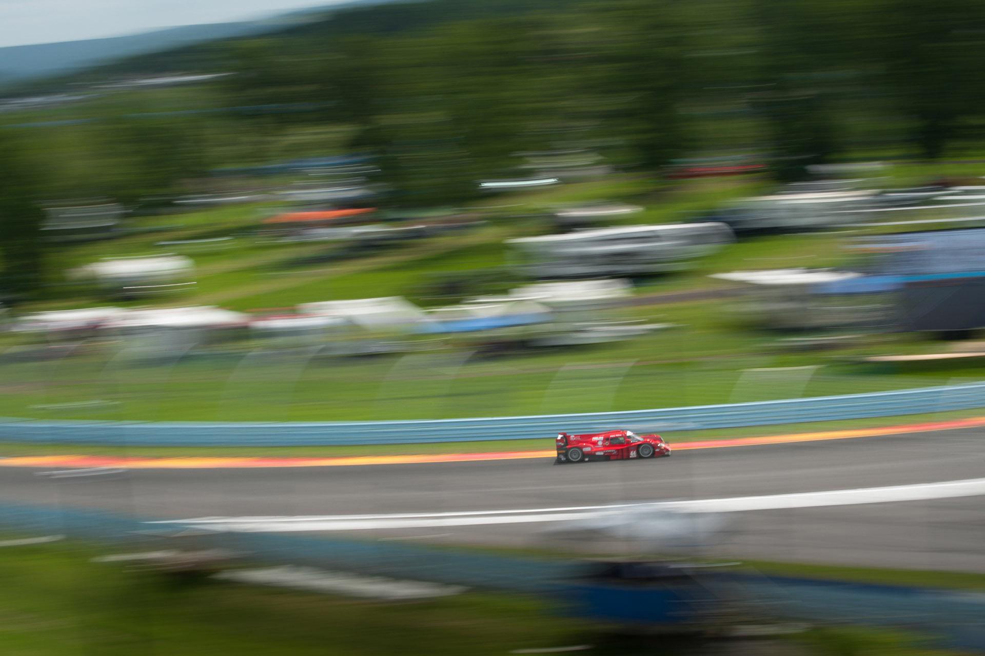luke Munnell motorsports photography IMSA Watkins Glen 44 AVE Motorsports prototype challenge racing wide pan blur