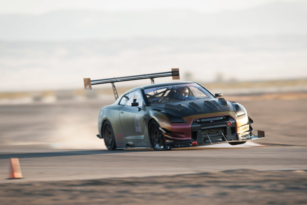 SP Engineering R35 Nissan GT-R race car in Global Time Attack and Super Lap Battle competition on two wheels motorsports photography