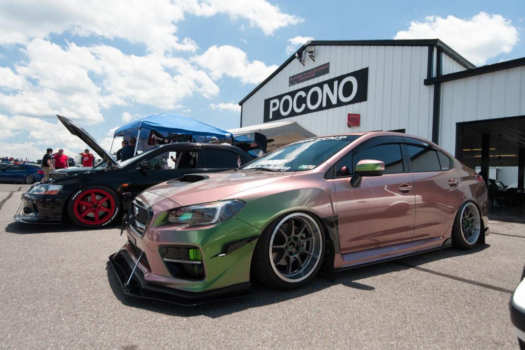 Mitsubishi EVO and Subaru Impreza WRX at Tuner Evolution Pocono Raceway