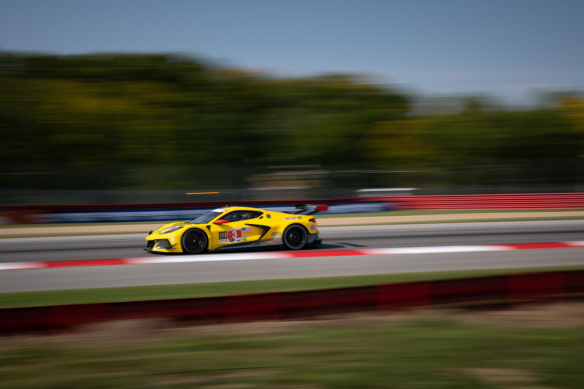 Jordan Taylor and the Corvette Racing C8.R at IMSA Mid Ohio 2020, motorsports photography by Luke Munnell