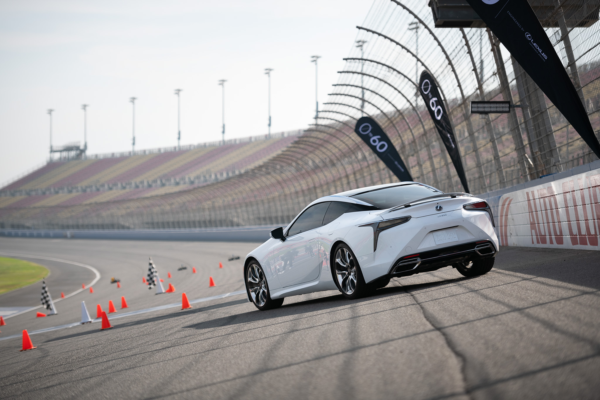 Lexus LC 500 0 to 60 campaign at Auto Club Speedway Fontana, motorsports photography by Luke Munnell