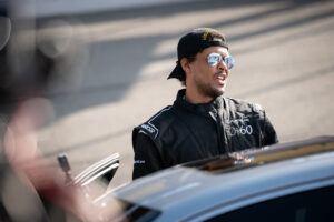 Actor Curtis Hamilton during the Lexus 0 to 60 campaign at Auto Club Speedway Fontana, motorsports photography by Luke Munnell