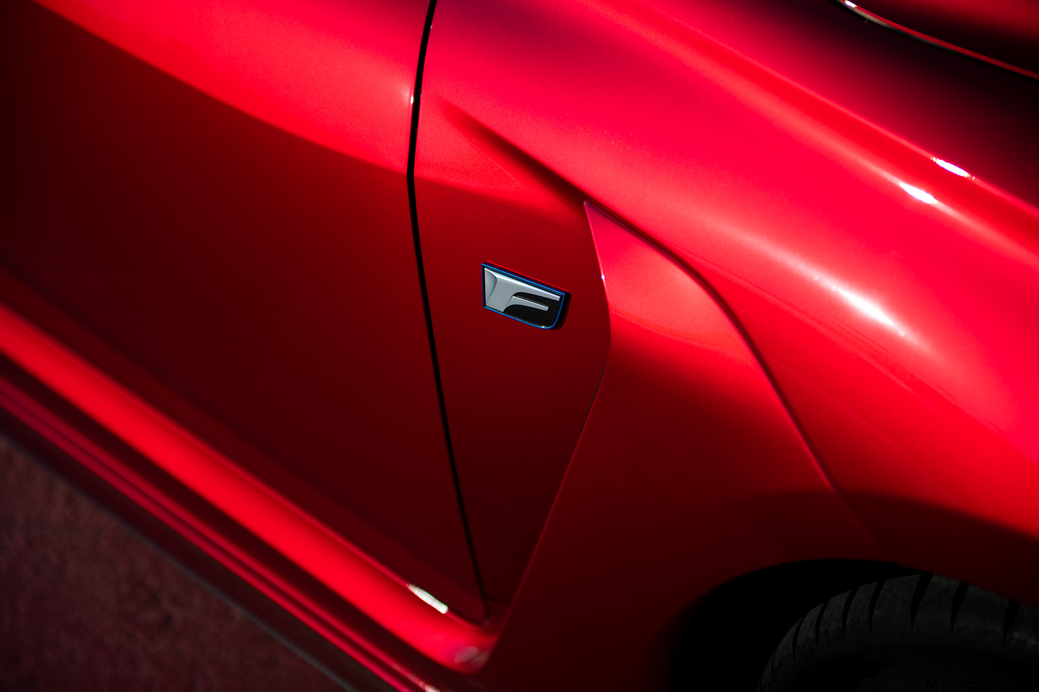 Lexus F Sport close-up badge detail