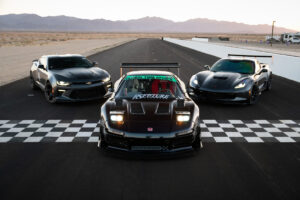 RS Future turbocharged K24 Acura NSX, Lexus IS-F and C7 Chevrolet Corvette at Club Racer Events' debut at Chuckwalla Valley Raceway in California, motorsports photography by Luke Munnell