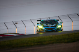 Misha Goikhberg and the Heinricher / Meyer Shank Racing Acura NSX GT3, in the Keyhole at IMSA Mid Ohio 2020 motorsports photography by Luke Munnell